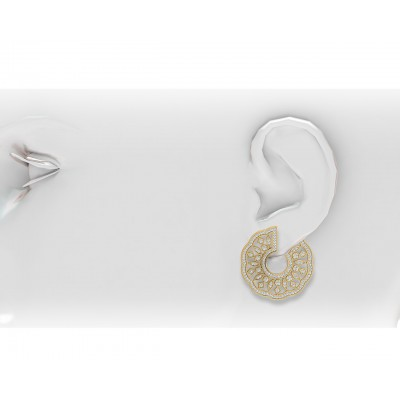 Tia Designer Diamond Hoops