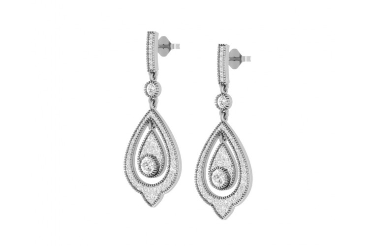 Eesha Diamond Drop Earrings