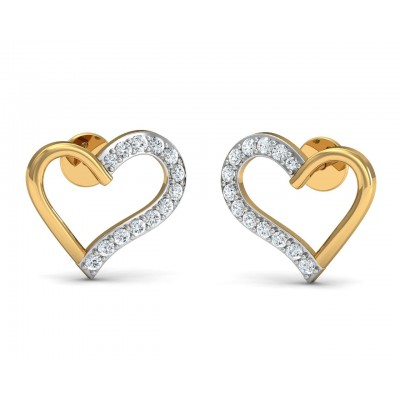 Amia Diamond Heart Earrings