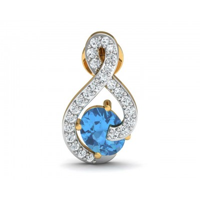 Adina Blue Topaz & Diamond Earrings