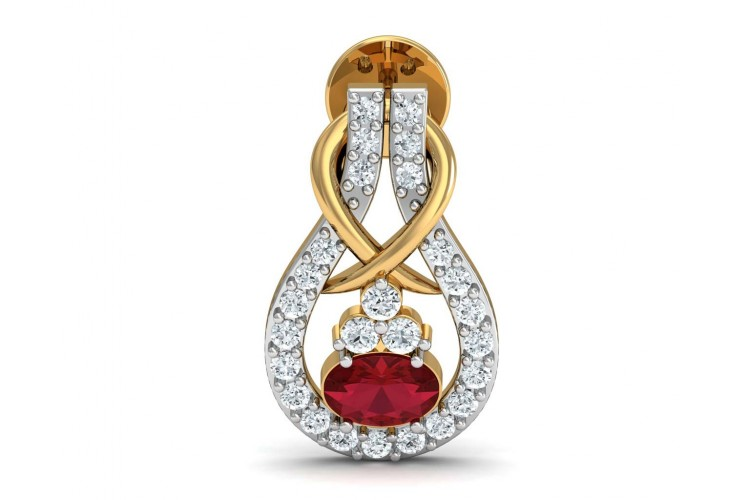 Lara Ruby Diamond Earrings
