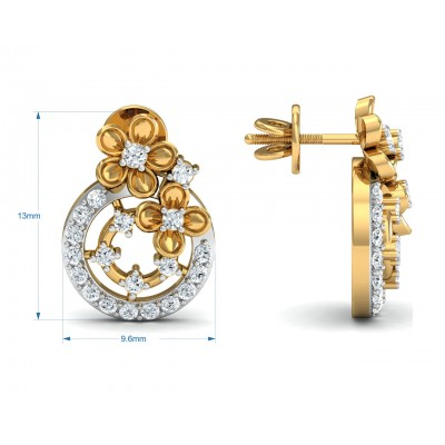 Arnit Diamond Earrings in Gold