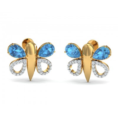 Asmara Blue Topaz & Diamond Earrings