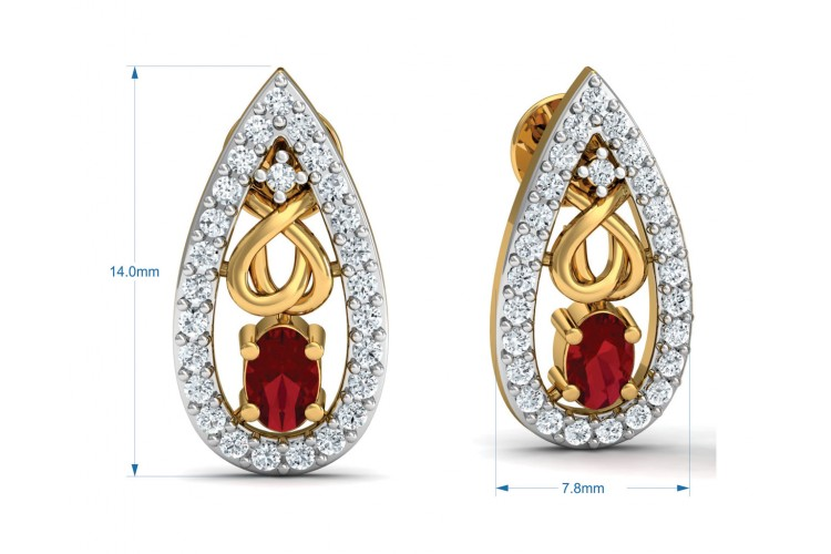 Ishani Ruby Diamond Earrings