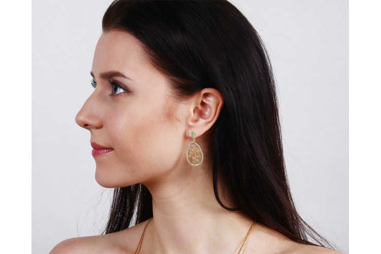 Bela Diamond Dangle Drop Earrings
