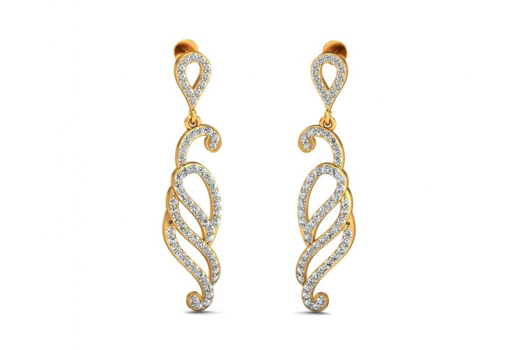 Alka Diamond Dangle Drop Earring