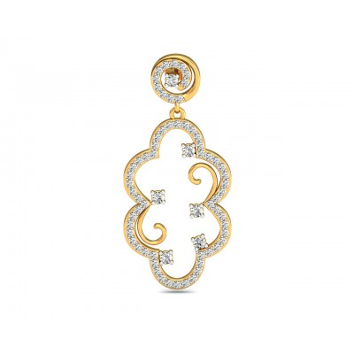Anan Diamond Gold Danglers