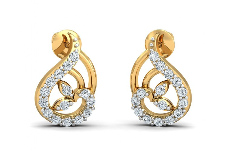 b8b2d915a Buy Charvi Designer diamond Earrings | Endear Jewellery