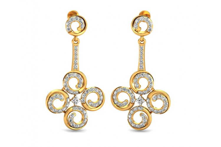 Contemporary Club Diamond Danglers