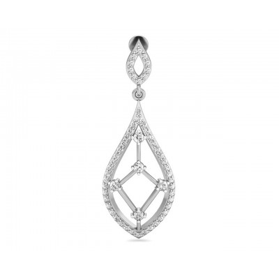 Rai Long Diamond Earrings in Gold