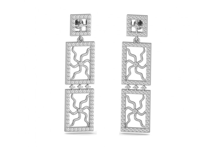 Kriti Long Diamond Earrings