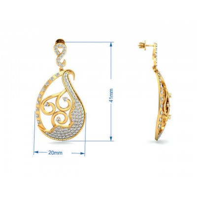 Eka Diamond Drop Earrings