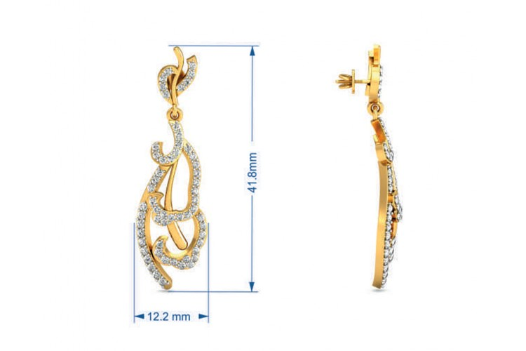 Abstract Designer Diamond Earrings