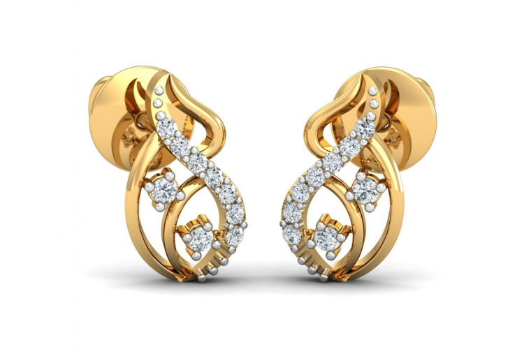 Deena Round Brilliant Cut Diamond Earrings