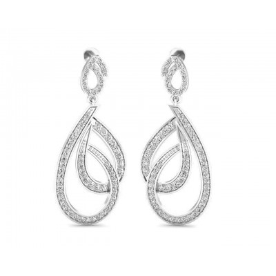 Gayle Long Diamond Earrings