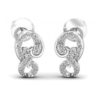 Freya Round Brilliant Diamond Earrings