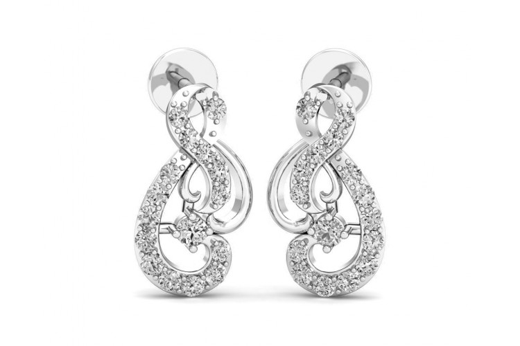 Deiva Round Brilliant Diamond Earrings