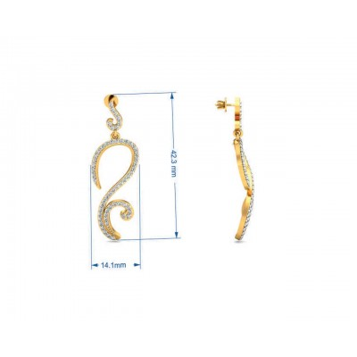 Farrah Long Diamond Earrings