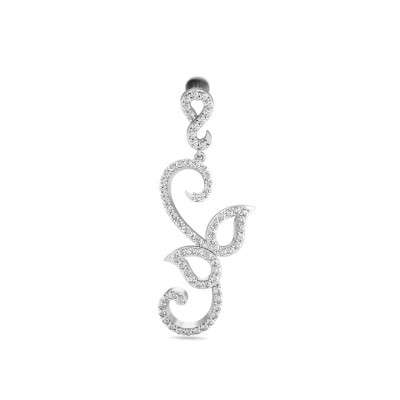 Flor Long diamond Earrings