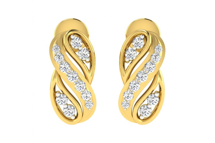 Celina Diamond Earrings in Gold