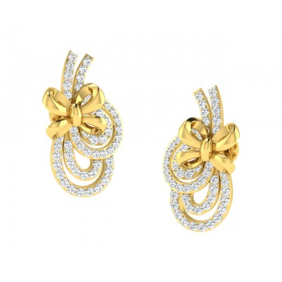 Hali Diamond Earrings in Gold