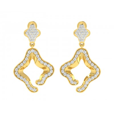 Ilsa Diamond Earrings in Gold