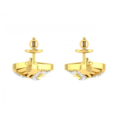Ivanka Diamond Earrings in Gold