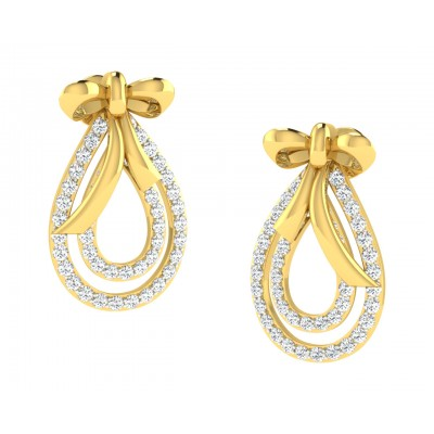 Iriana Diamond Earrings in Gold