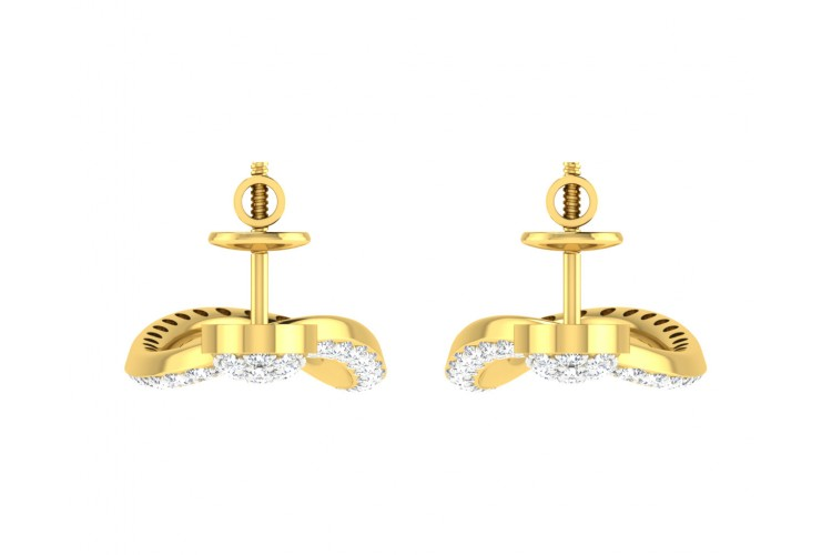 Eeva Diamond Earrings in Gold