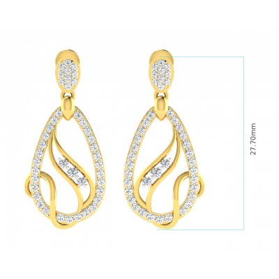 Lyra Diamond Earrings in Gold