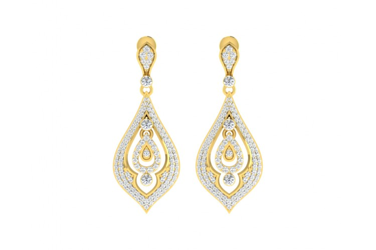Nomi Diamond Earrings in Gold