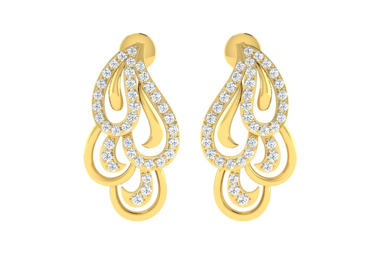 Pamela Diamond Earrings in Gold