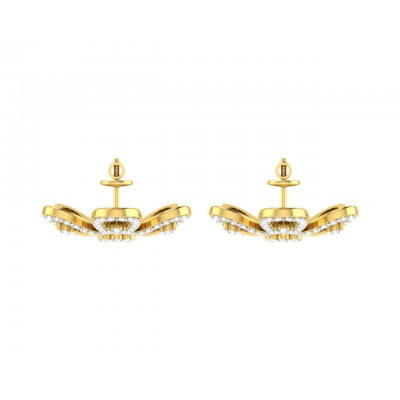 Rhea Diamond Earrings in Gold