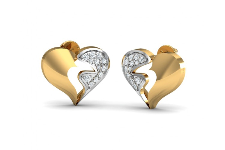 Pana Diamond Heart Earrings