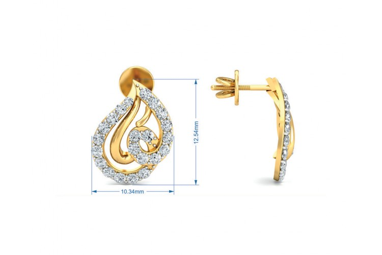 Genn Diamond Earrings In Gold
