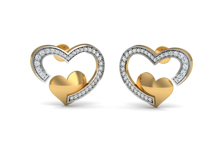 Fiona Diamond  Heart Earrings