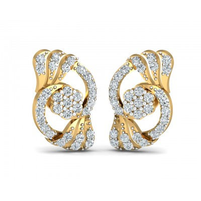 Inara Diamond Earrings in Gold
