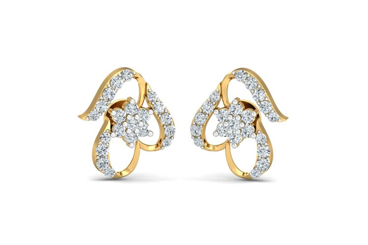 anand gems earings earrings jewellery product diamond moissanite