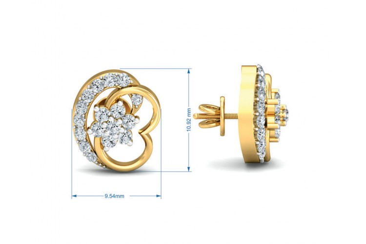 Viti Diamond earrings in gold