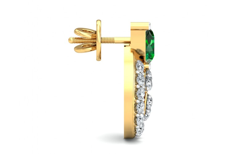 Vahi Emerald & Diamond Earrings