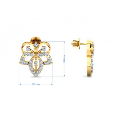 Ruhi Diamond Earrings in Gold