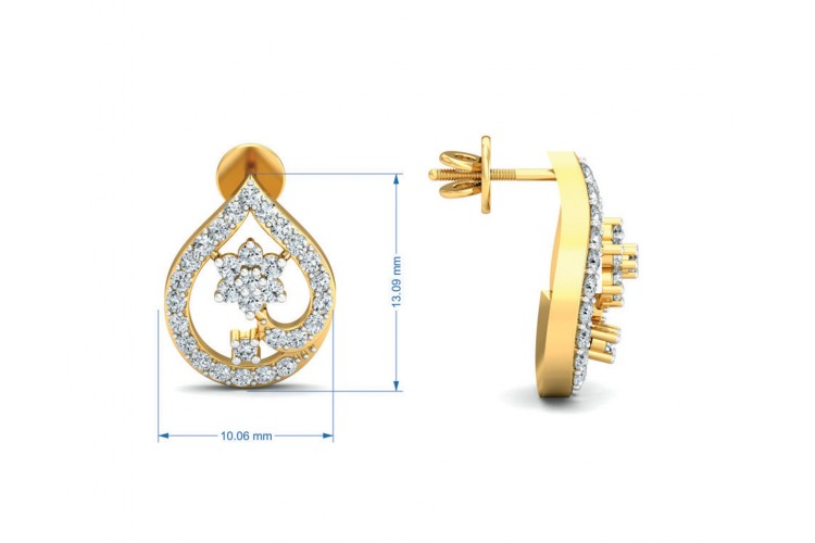 Rima Gold Diamond Earrings