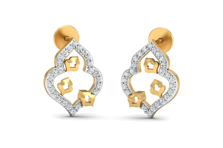 Ella Diamond Earrings in Gold