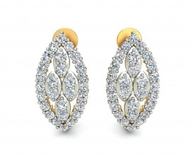 Fay Diamond Earrings Half Bali in 14k hallmarked Gold