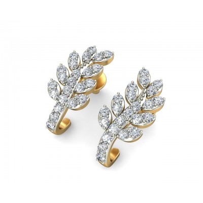 Sain Diamond Earring Half Balis in Gold