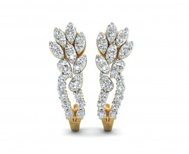Sara Diamond Earrings in Gold