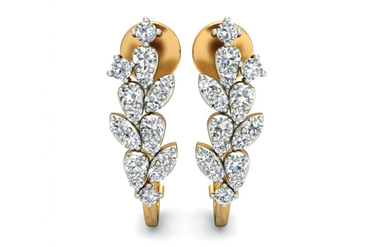 Femi Diamond Half Bali earrings in gold