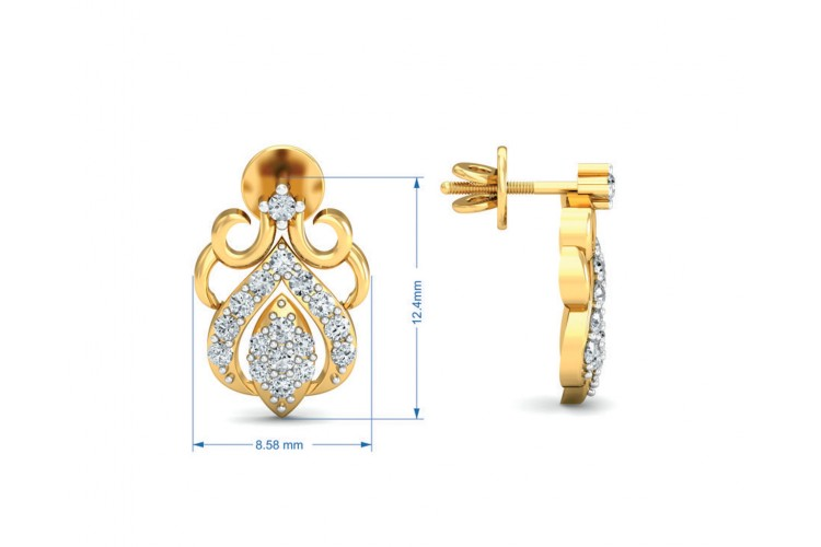 Reba Diamond Earrings in Gold