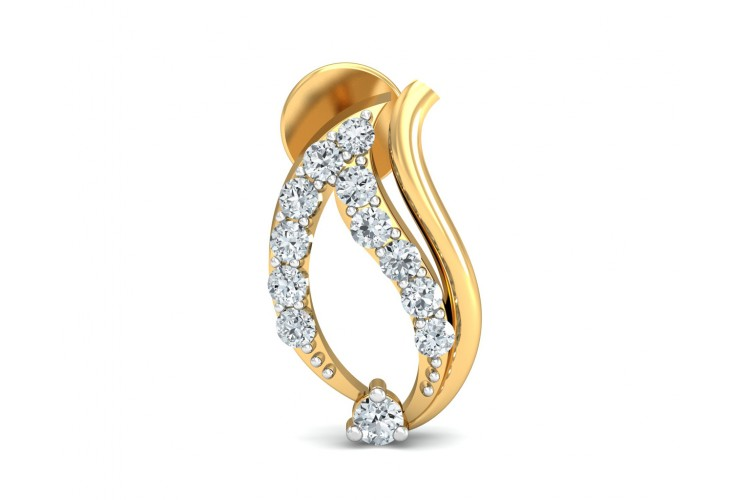 Rimi Diamond Earrings in gold