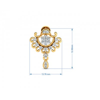 Tanvi Diamond Earrings in Gold